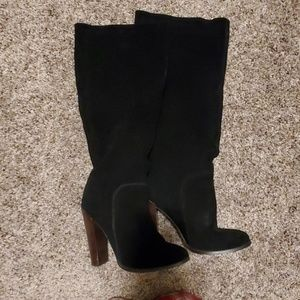 Tall soft suede boots